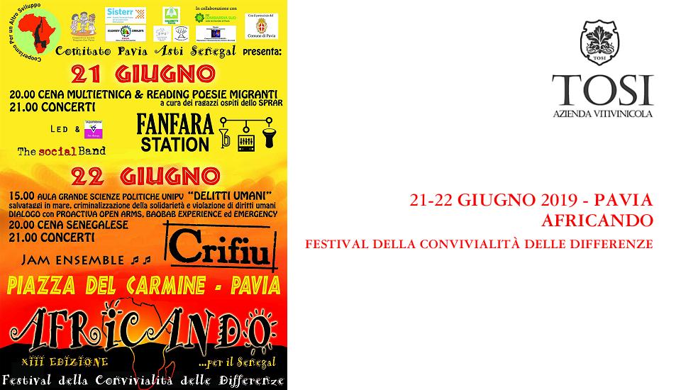 Festival Africando (Pavia, 21-22/06/2019)
