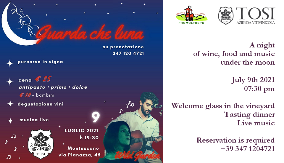 Wine, food and music under the moon (07/09/2021)