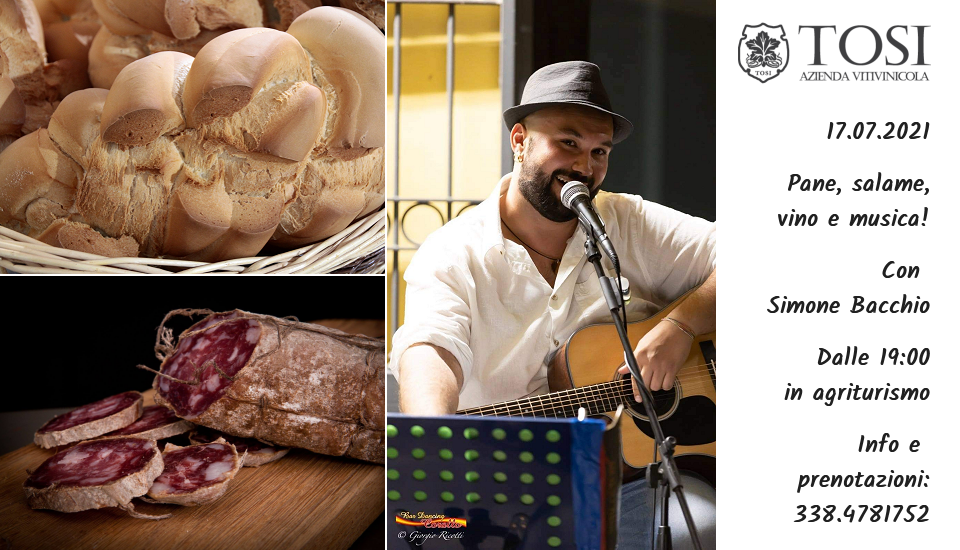 Pane, salame, vino e musica (17 luglio 2021)